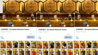 Free Legends European National Pack Compilation From My Account PES 2020 Mobile 8/14/20