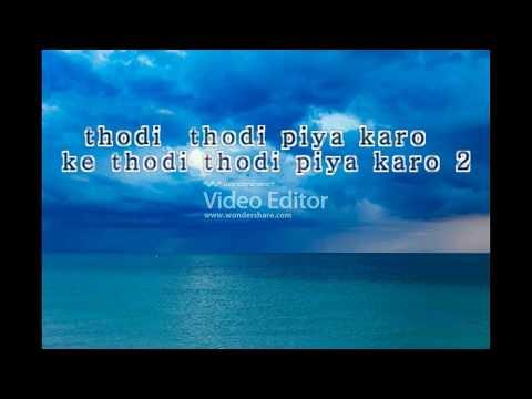 thodi thodi piyakaro new sunil karaoke