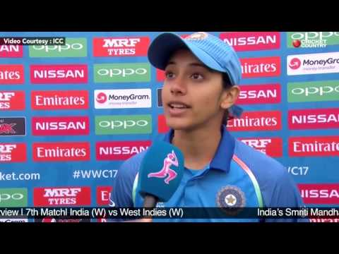 India's Smriti Mandhana Post Match Interview | 7th Match | India (w) vs West Indies (w)