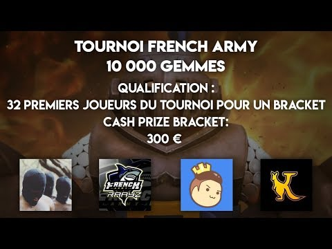 Bracket Tournoi French Army 300€ Cash Prize GAME DE OUF A LA FIN