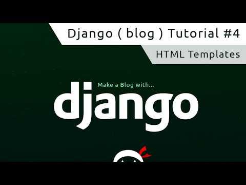 Django Tutorial #4 - HTML Templates