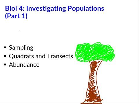 Investigating Populations (Part 1) - (AQA A2 Biology - Unit 4)