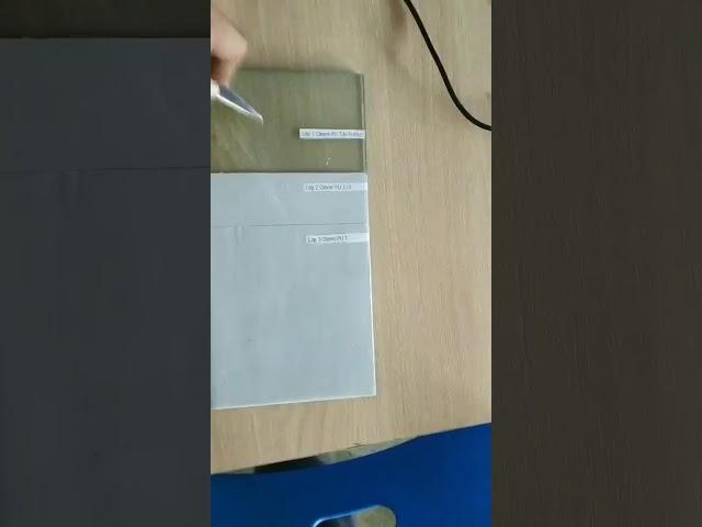 Kiểm tra độ bám dínhh trên kính vật liệu clever pu 110
