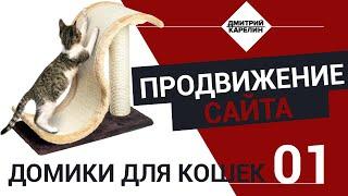 """Продвижение интернет магазина """"Домики для кошек"""". Семантика для рекламы Яндекс Директ."""