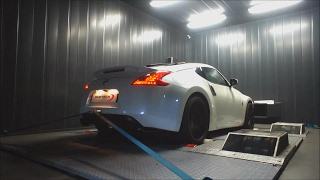 Nissan 370Z ShifTech Tuned w/ Armytrix Valvetronic Exhaust on Dyno - LOUD!