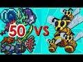 Terraria - 50 Strong Weapons vs Queen Bee | Biron