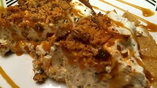 Instant No Bake Butterfinger Pie