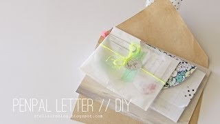 {DIY} How to put together a penpal letter // xoStellaire ☆