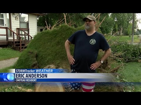 Strong storms hit Choteau