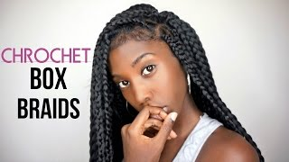 how to crochet box braids   realistic looking free parting