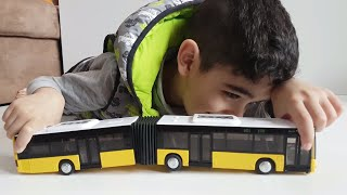Toy MAN BUS for Kids Articulated Bus Video for Kids - Siku Bus