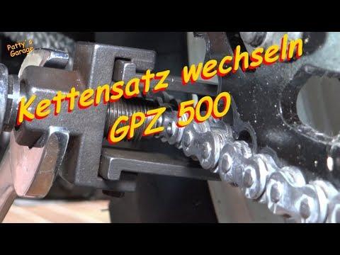 Kettensatz wechseln an einer GPZ 500 S