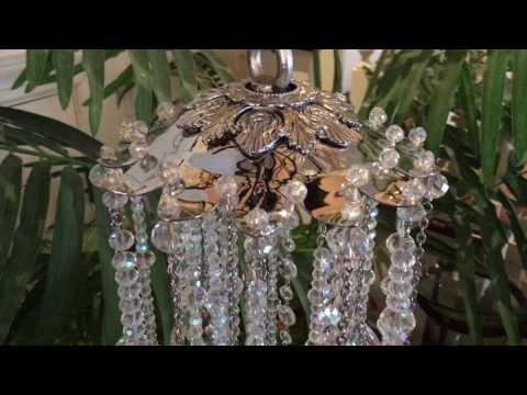 Kirks Folly Crystals Of Camelot Enchanted Wind Chime (Silvertone/Crystal Aurora Borealis)