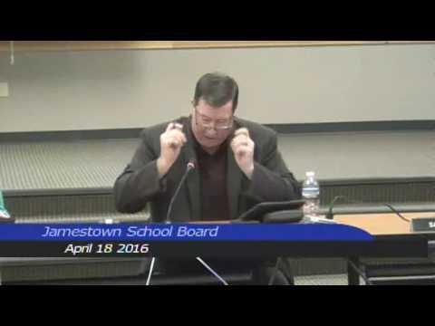 Jamestown Public School Board April 18 2016