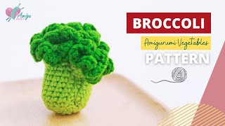 #070 | DIY Vegetable Amigurumi | How to crochet a BROCCOLI amigurumi | Free Pattern | AmiguWorld