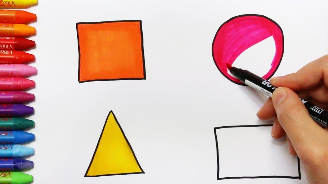wie zeichnet man geometrische formen zeichnen und ausmalen f r kinder youtube. Black Bedroom Furniture Sets. Home Design Ideas