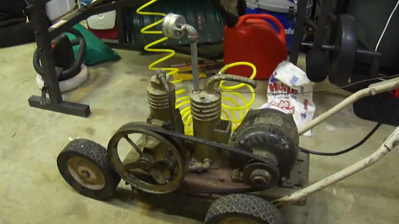 Old Air Compressor Montgomery Ward Youtube