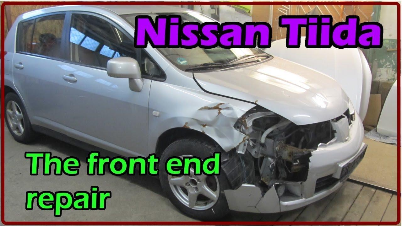Nissan Tiida. The front end repair. Ремонт переда.