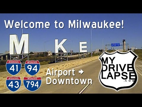 Let's Drive Around Milwaukee: MKE Airport to Downtown