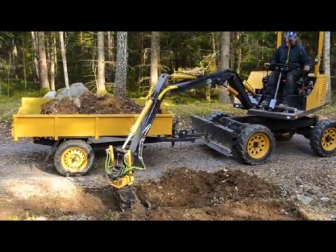 Homemade excavator -