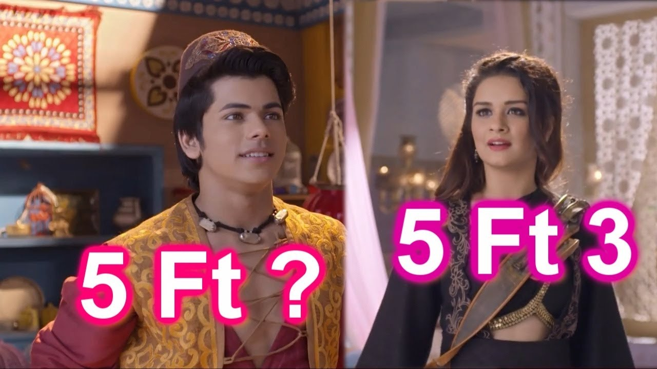 Aladdin - Naam Toh Suna Hoga Actors & Actresses Heights In Feet And Inches