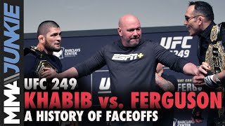 Khabib Nurmagomedov vs  Tony Ferguson: A history of faceoffs