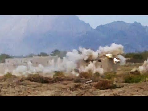 F/A-18 Strafing Run on Taliban Compound