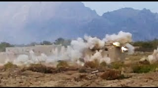 F/A-18 Strafing Run on Taliban Compound