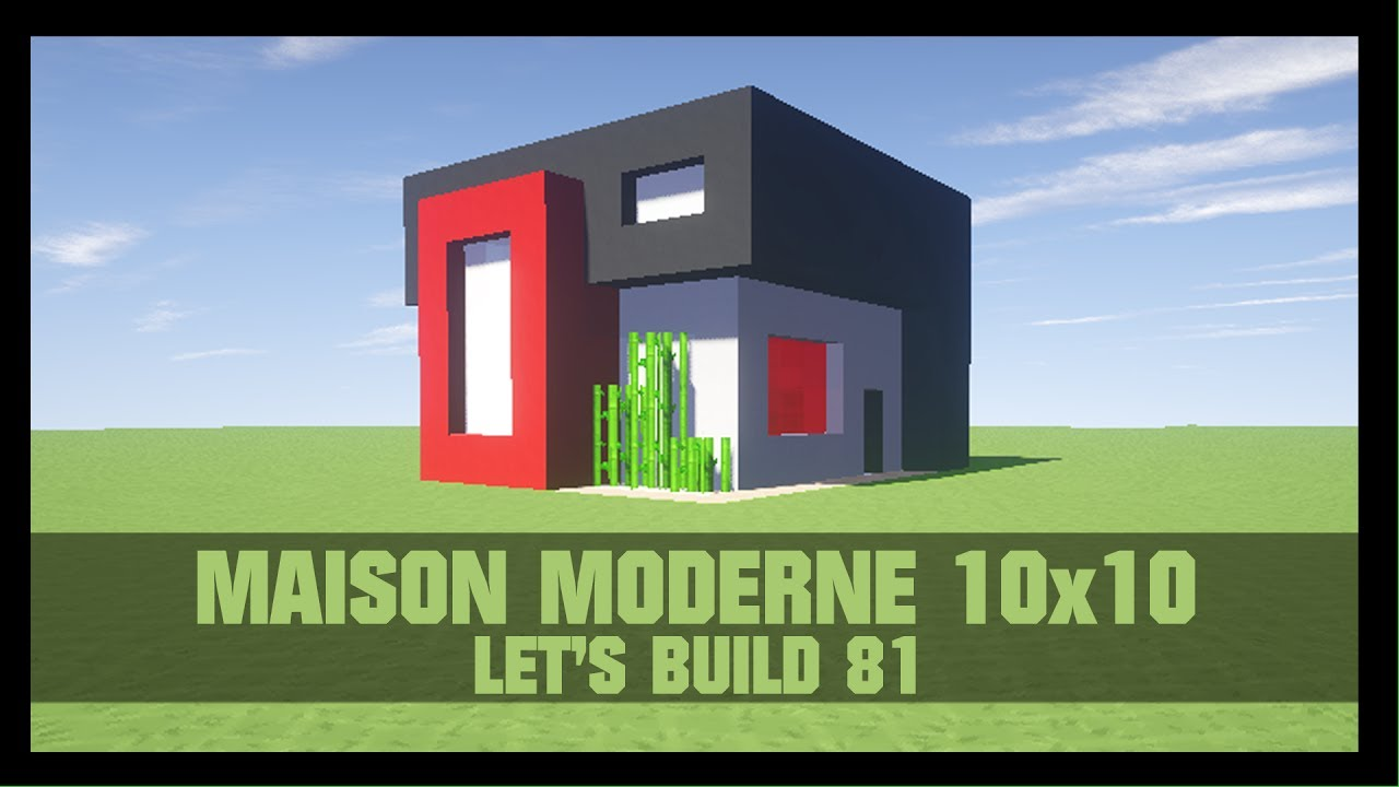 tuto comment construire une maison moderne 10x10 dans minecraft youtube. Black Bedroom Furniture Sets. Home Design Ideas