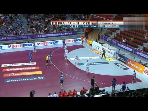 France vs czech Republic GAME1 preliminary Round QATAR HANDBALL 2015