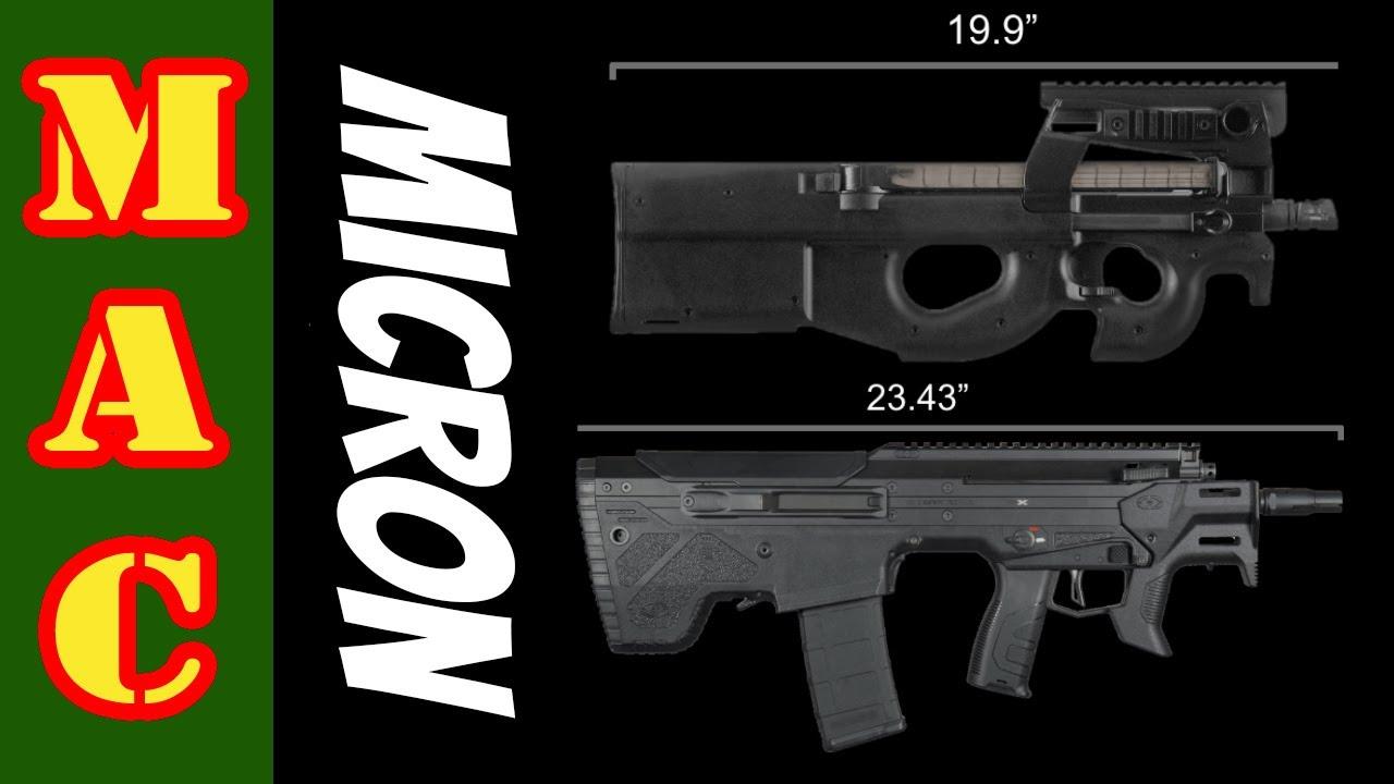 A 5.56 Rifle as small as a P90! Desert Tech Micron.
