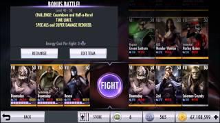 Final Bonus Battle w/ 50 VII Characters | Injustice iOS