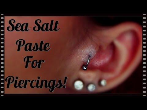 Sea Salt Paste For Piercings Hypertrophic Scarring Tutorial
