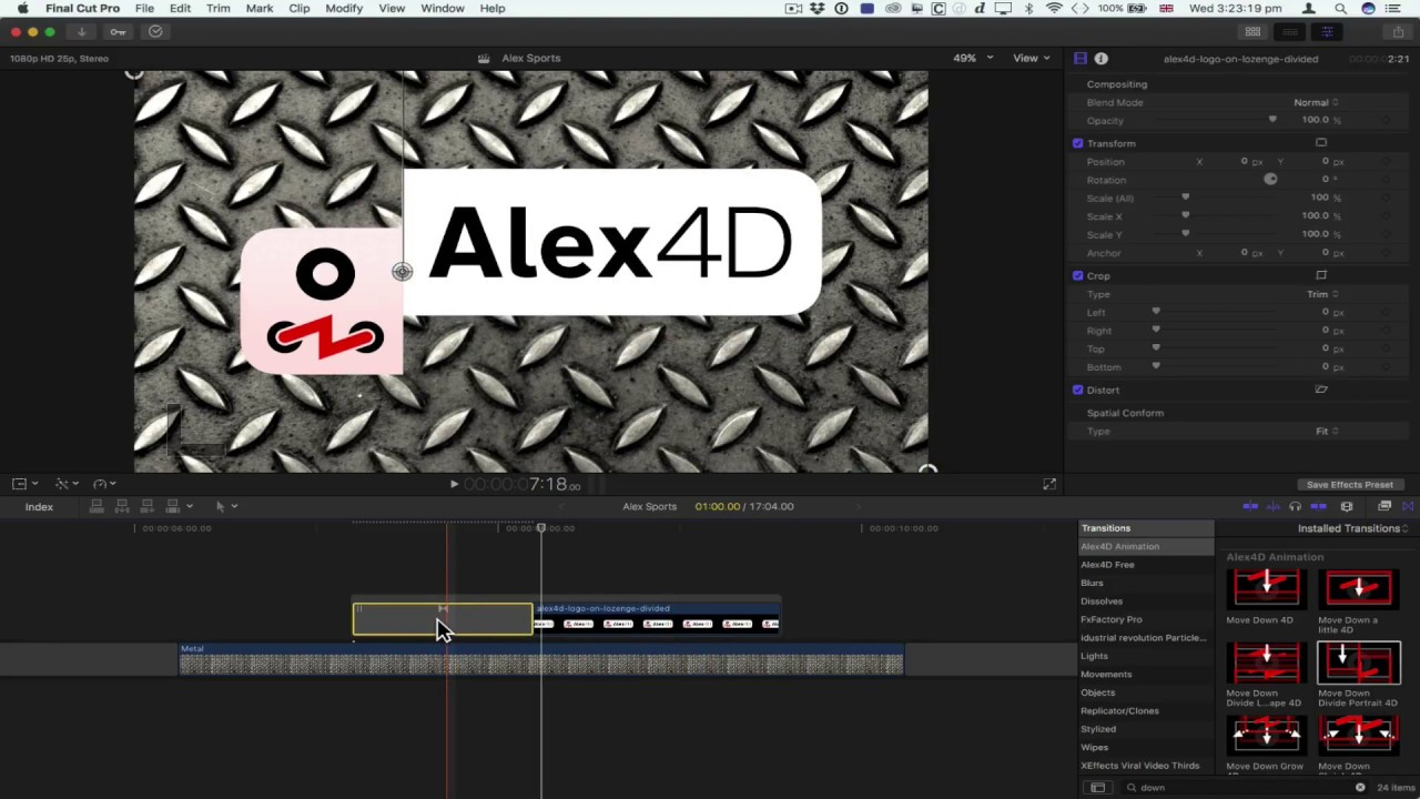Alex4D Animation Transitions - 120 Final Cut Pro X plugins
