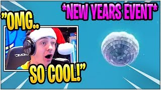 Ninja Reacts to LEAKED Fortnite NEW YEARS EVE EVENT!