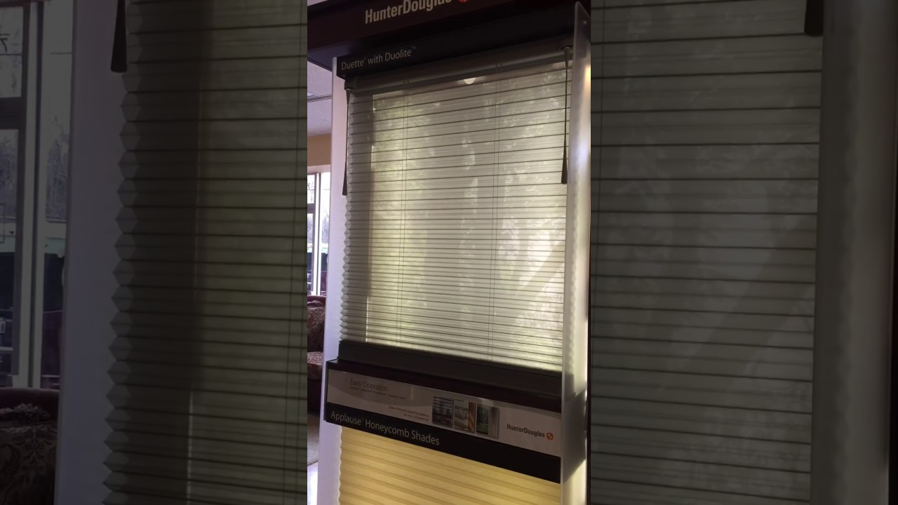Hunter Douglas Duette With Duolite Youtube