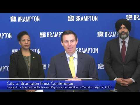 City of Brampton Press Conference #3: April 7, 2020