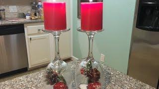 ❄Easy Dollar Tree Christmas DIY - Snow Globe Candle Decor❄ | Vlogmas 2015 ~ Day 11