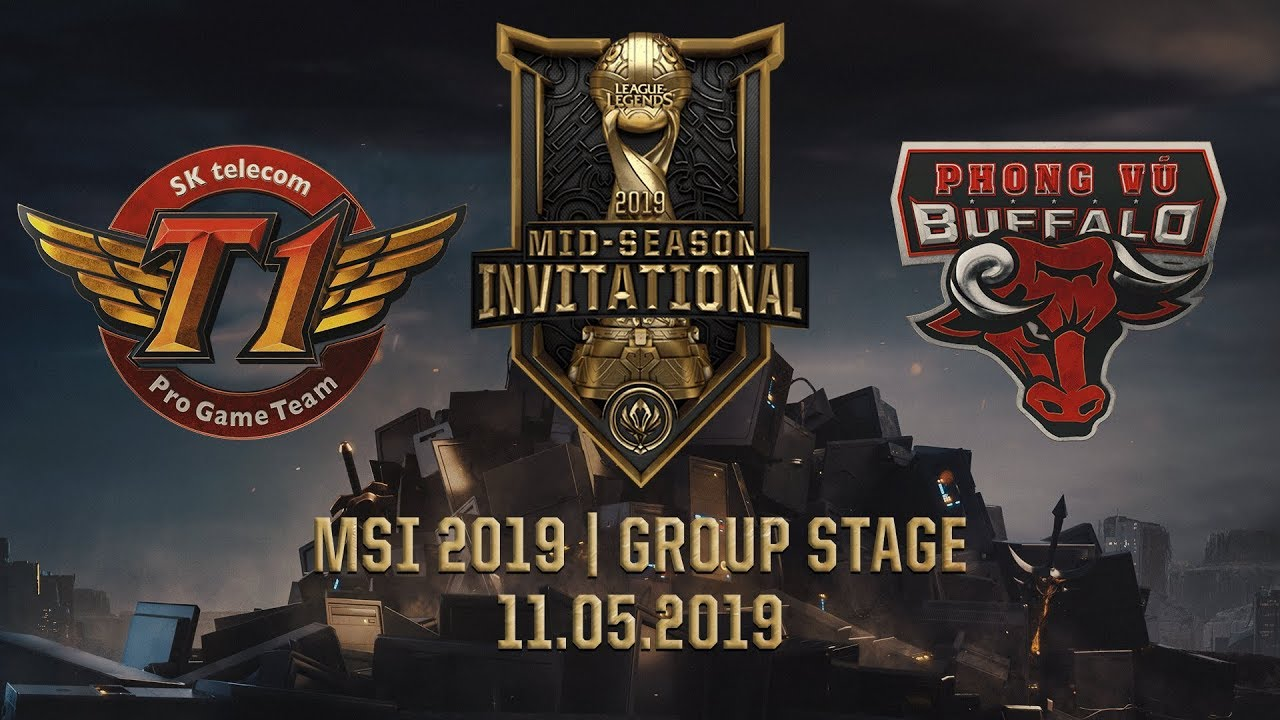 SKT vs PVB [MSI 2019][11.05.2019][Group Stage]