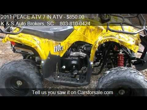 2011 PEACE ATV 7 IN ATV w/ reverse - for sale in Fort Mill,