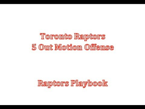 Toronto Raptors 5 Out Motion Offense