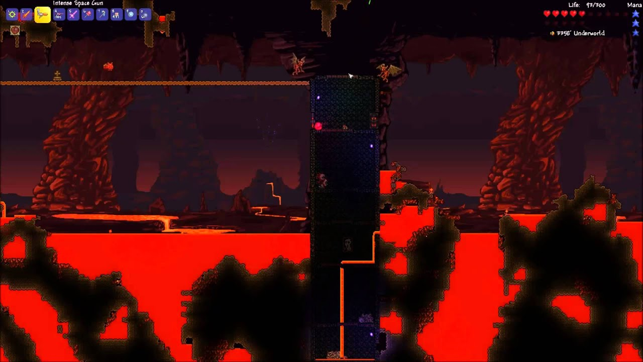 how to get to the underworld fast in terraria