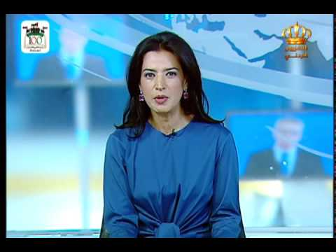 English News at Ten on Jordan Television 12-08-2016