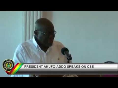 CSE BROUHAHA: PRESIDENT AKUFO-ADDO CLEARS AIR, CSE IS NOT IN THE CURRICULUM