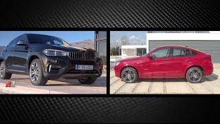 BMW X4 Vs BMW X6 2014 - test drive only sound - the twins