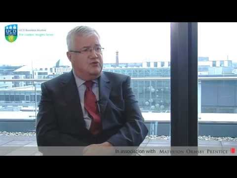 UCD/Matheson: Willie Slattery of State Street - Trends and Innovation in the IFSC