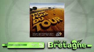 Installation du Tour de France à Mûr de Bretagne, 5 juillet 2011