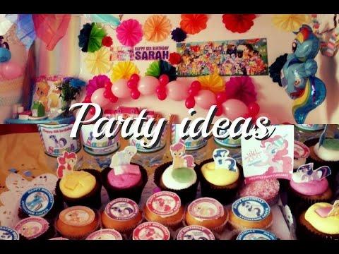 MY LITTLE PONY BIRTHDAY PARTY IDEAS | Fatema's Art Show