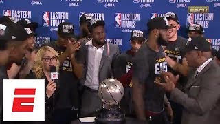 [FULL] Cleveland Cavaliers win 2018 Eastern Conference finals: Watch the trophy presentation | ESPN