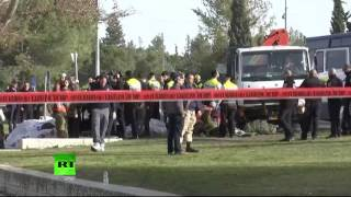 Обстановка на месте теракта в Иерусалиме